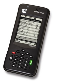 The QuickCheck 5100 allows fleet managers to monitor key engine information.
