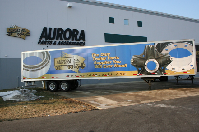 Aurora has launched a trailer fleet to deliver parts across North America.