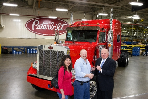 The final Peterbilt Model 379 rolls off the line.
