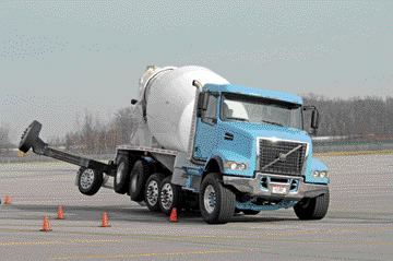 NEW STABILITY: Volvo's VHD vocational truck will now come standard with the company's stability system.