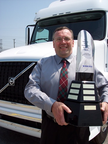 Richard Sharpe, winner of the 2007 Volvo Canadian Fleet Maintenance Manager of the Year Award,