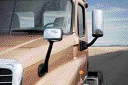 NOW STANDARD: Hood-mounted mirrors will come standard on the Cascadia, the company announced.