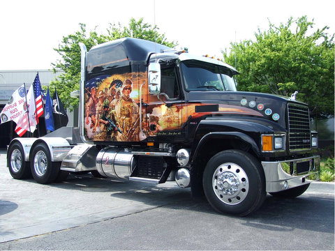 A Mack CH midrise sleeper and more than 100 motorcyclists from the New River Valley plant in Dublin, Va. travelled to Washington, D.C. this past Memorial Day weekend to participate in the annual Rolling Thunder  Ride for Freedom rally.