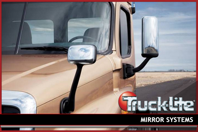 Freightliner has teamed up with Truck-Lite to produce a mirror system for the Cascadia.