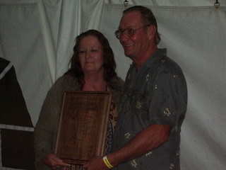 Frank Vanderhoeff and partner Judy pose for pictures after he was presented with the 2007 Owner/Operator of the Year award.