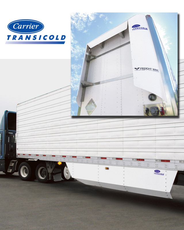 A combination of trailer fairings could reduce fuel consumption by 6%.
