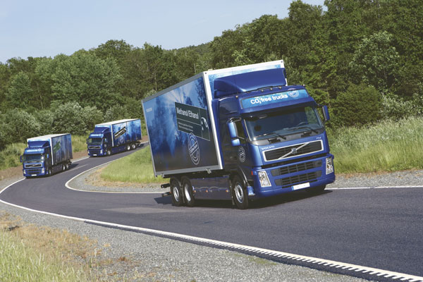 Volvo has developed seven demonstration model trucks, which run solely on renewable fuels.
