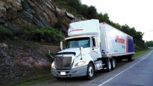 PROSTAR PASSES THE TEST: The ProStar, parked along the Trans-Canada Hwy., lived up to the hype on this test drive.