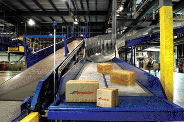 STATE OF THE ART: Purolator's new Quebec hub features high-tech sortation equipment that can process 24,000 packages per hour.
