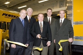 Penske Truck Leasing officials cut the ribbon on the company's new Quebec City facility.