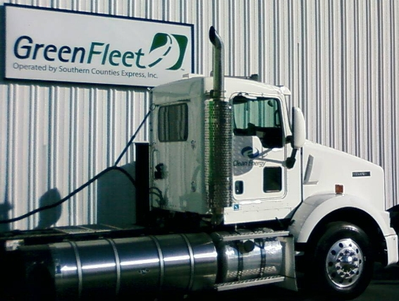 Kenworth's LNG T800s will produce fewer emissions than trucks running on traditional diesel fuel, the company says.