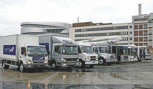 "GLOBAL APPEAL: Daimler had a complete line-up of Japanese, American and European ""green"" vehicles parked in front of the Mercedes-Benz museum in Stuttgart."