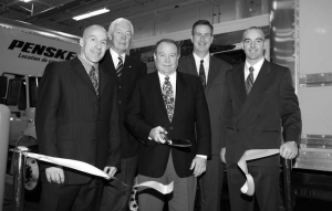 OPEN FOR BUSINESS: Penske officials and local dignitaries recently cut the ribbon on a new Quebec City facility.