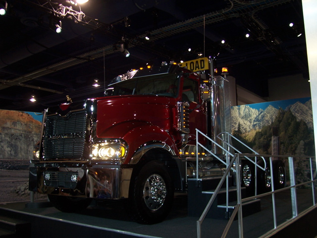 Mack's new Titan was unveiled amid much fanfare at CONEXPO.