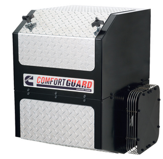 Cummins ComfortGuard APU can meet California emissions limits with a stand-alone DPF or a kit that routes its exhaust through the truck's primary DPF.