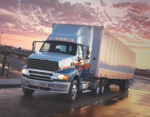 QUIETER RIDE: Sterling has made a number of sound-reducing improvements to its highway trucks.