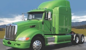 LONG-HAUL HYBRIDS: This Peterbilt 386 hybrid was developed for Wal-Mart and is expected to deliver fuel savings of 5-7% running long distance.