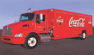 COOL ORDER: Coca-Cola has placed an order for 120 hybrid beverage trucks such as this one.
