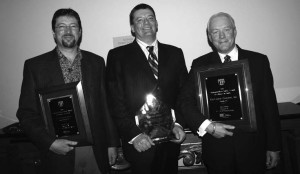 CANADIAN CONTINGENT: From left to right, winners Wendell Erb (Erb Transport), Rob Penner (Bison Transport) and Evan MacKinnon (MacKinnon Transport) proudly display their awards from the Truckload Carriers Association.