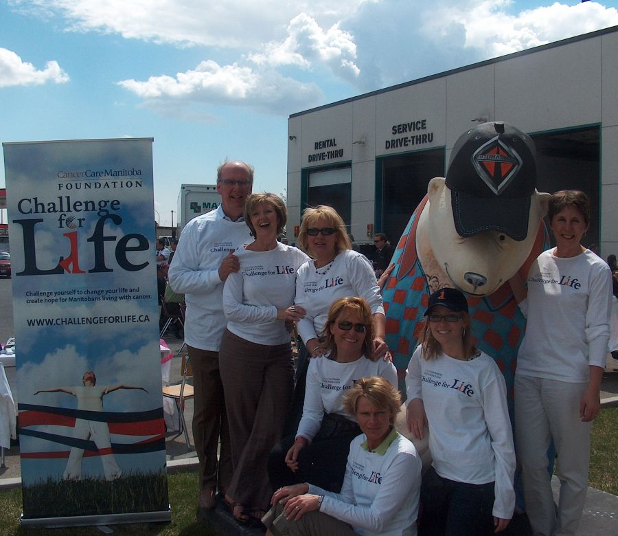Members of the Maxim Challenge for Life team include (from left) Doug Harvey, Jan Shute, Margy Nelson, Shelley Betton, Maili Wiechern, Meghan Furst and Val Kolson.
