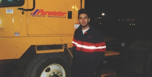 CENTRE OF THE ACTION: Shunter Akber Popal enjoys the job because of the non-stop action in the yard. And the fact he gets to go home after his shift.