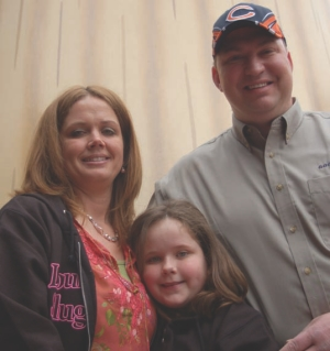 RE-UNITED: Goodyear Highway Hero Richard Filiczkowski was re-united with the girl he saved, Abby Bern and her mother Marty, during a recent ceremony.