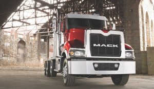 MAKING A SPLASH: Mack's bold new heavy-hauler attracted a lot of attention when introduced at ConExpo, and again later at Mid-America.