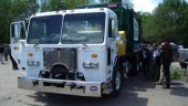 This Peterbilt refuse truck with Eaton's Hydraulic Launch Assist (HLA) system was recently on display in Toronto.