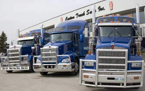 Darcol's trucks are usually serviced at Custom Truck Sales in Winnipeg.