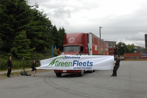 B.C.'s first enviroTruck's have officially hit provincial highways.
