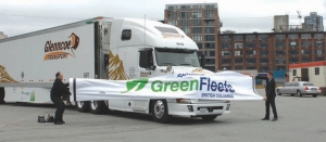 GRAND ENTRANCE: Environmentalists and politicians got their first look at the latest generation of environmentally-friendly trucks at a recent event in B. C.