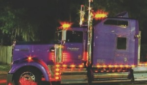 LIGHT SHOW: The truck is decked out with more than 320 lights.