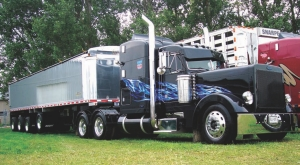 BLACK BEAUTY: Spectators at this year's show'n'shine were talking a blue streak about this truck by Mar-bo Farms of Belwood, Ont.