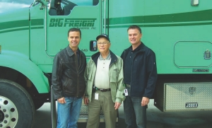 ALL IN THE FAMILY: Gary, 'Red' and Earl Coleman (L-R) have kept Big Freight pointed in the right direction for 60 years now.