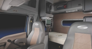 INSIDE LOOK: The NightShift boasts a functional interior with plenty of storage (above) and on the outside, a stylish appearance with several windows (below).
