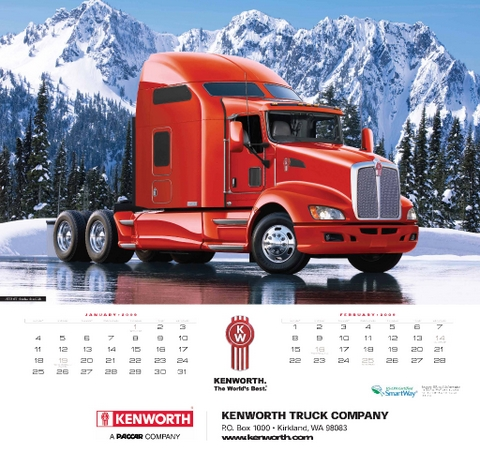 An image from the wall version of Kenworth's 2009 calendar.