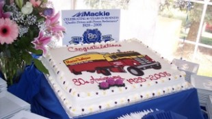 Guests enjoyed a specially-designed cake, commemorating the occasion.