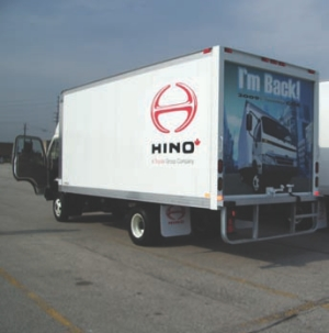 IT'S BACK: Hino hosted a recent ride-and-drive to showcase the return of its cabover engine. The Model 155 COE has a tight turning radius and excellent visibility compared to conventional-styled trucks.