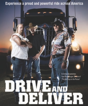 FILM DEBUT: Chris LeCount, Tim Young and Steve Donaldson (L-R) star in the film Drive and Deliver.