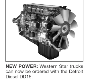 NEW POWER: Western Star trucks can now be ordered with the Detroit Diesel DD15.