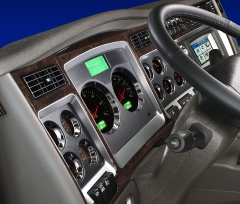 Kenworth is adding wood finish accents to the interior of many of its Class 8 and medium-duty models.