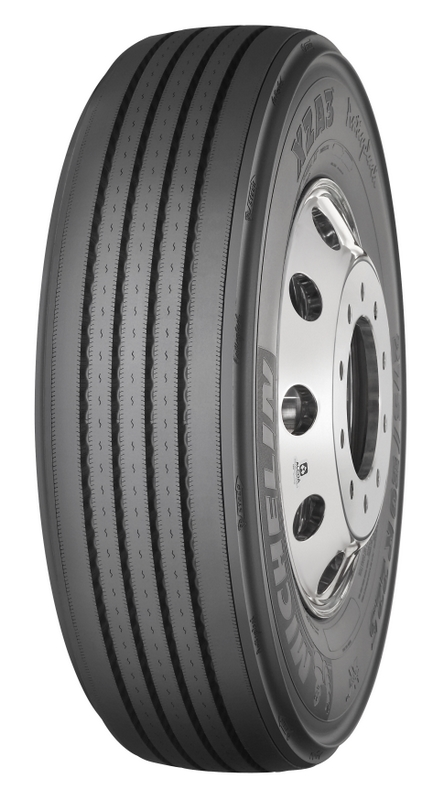 The Michelin XZA3 Antisplash tire is said to reduce the trajectory of spray by 50%.