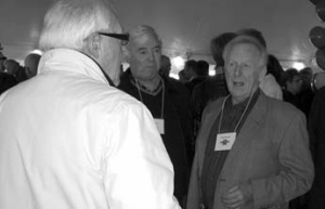 REASON TO CELEBRATE: Ross Mackie greets guests at the company's recent 80th birthday celebration.