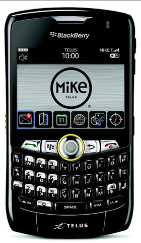The new Blackberry 8350i - exclusive to the Telus Mike Network - has loads of features for truckers on the move.
