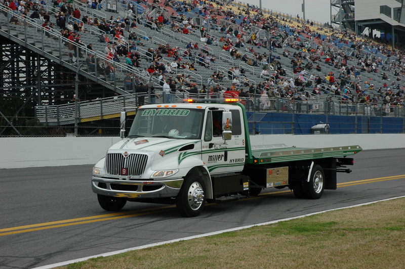 This hybrid recovery truck took part in the annual Daytona 500 this year.