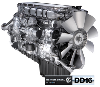 The DD16 will be available with SCR in 2010, Detroit Diesel has announced.