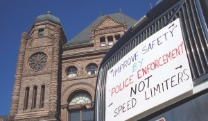 TOO LITTLE, TOO LATE?: A protest at Queen's Park March 2 attracted a small but vocal group of drivers that are opposed to Ontario's Bill 41.