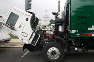 Mack and other manufacturers took their hybrid technology to Washington in hopes of educating legislators on the benefits of hybrids.