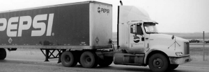 TURNPIKE DOUBLE: An LCV crosses the scales in Alberta.
