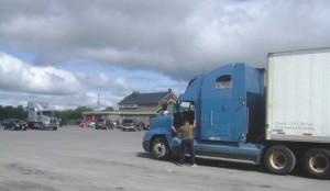 FATAL STOP?: Surveillance videos placed accused killer Paul Cyr at the 10 Acre truck stop in Belleville at the same time Woods was there. However, Cyr told investigators he didn't talk to Woods at the truck stop.